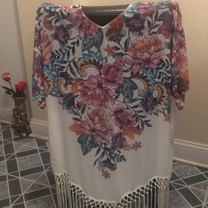 Coverup floral back size xs/s